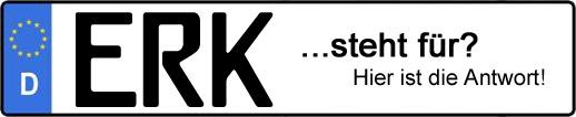 Wofür steht das Kfz-Kennzeichen ERK?   Kfz-Kennzeichen - AUTOPURISTEN.net