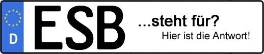 Wofür steht das Kfz-Kennzeichen ESB?   Kfz-Kennzeichen - AUTOPURISTEN.net