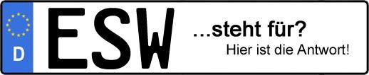 Wofür steht das Kfz-Kennzeichen ESW?   Kfz-Kennzeichen - AUTOPURISTEN.net