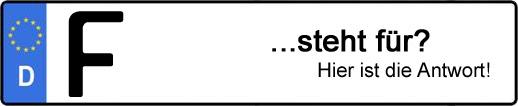 Wofür steht das Kfz-Kennzeichen F? | Kfz-Kennzeichen - AUTOPURISTEN.net