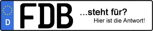 Wofür steht das Kfz-Kennzeichen FDB? | Kfz-Kennzeichen - AUTOPURISTEN.net