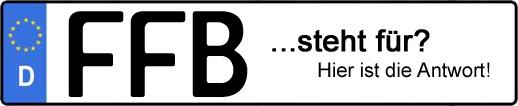 Wofür steht das Kfz-Kennzeichen FFB? | Kfz-Kennzeichen - AUTOPURISTEN.net