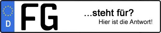 Wofür steht das Kfz-Kennzeichen FG? | Kfz-Kennzeichen - AUTOPURISTEN.net