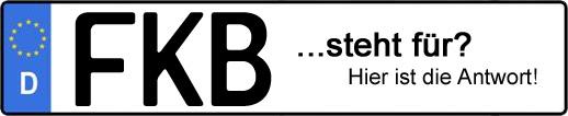 Wofür steht das Kfz-Kennzeichen FKB? | Kfz-Kennzeichen - AUTOPURISTEN.net