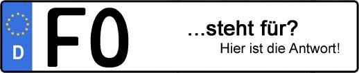 Wofür steht das Kfz-Kennzeichen FO? | Kfz-Kennzeichen - AUTOPURISTEN.net