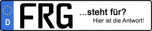 Wofür steht das Kfz-Kennzeichen FRG? | Kfz-Kennzeichen - AUTOPURISTEN.net
