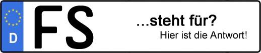 Wofür steht das Kfz-Kennzeichen FS? | Kfz-Kennzeichen - AUTOPURISTEN.net
