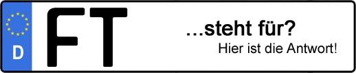 Wofür steht das Kfz-Kennzeichen FT? | Kfz-Kennzeichen - AUTOPURISTEN.net