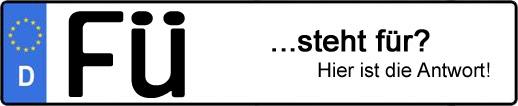 Wofür steht das Kfz-Kennzeichen FÜ? | Kfz-Kennzeichen - AUTOPURISTEN.net