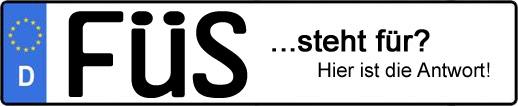 Wofür steht das Kfz-Kennzeichen FÜS? | Kfz-Kennzeichen - AUTOPURISTEN.net