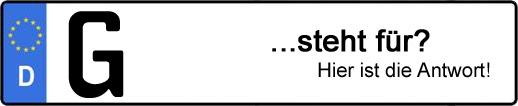 Wofür steht das Kfz-Kennzeichen G? | Kfz-Kennzeichen - AUTOPURISTEN.net