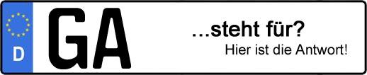 Wofür steht das Kfz-Kennzeichen GA? | Kfz-Kennzeichen - AUTOPURISTEN.net