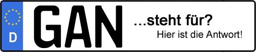 Wofür steht das Kfz-Kennzeichen GAN? | Kfz-Kennzeichen - AUTOPURISTEN.net