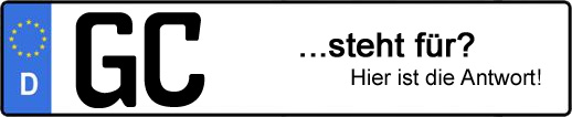 Wofür steht das Kfz-Kennzeichen GC? | Kfz-Kennzeichen - AUTOPURISTEN.net