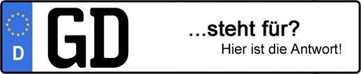 Wofür steht das Kfz-Kennzeichen GD? | Kfz-Kennzeichen - AUTOPURISTEN.net