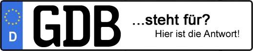 Wofür steht das Kfz-Kennzeichen GDB? | Kfz-Kennzeichen - AUTOPURISTEN.net