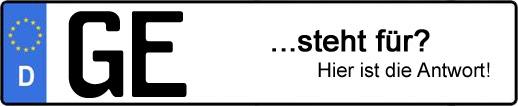 Wofür steht das Kfz-Kennzeichen GE? | Kfz-Kennzeichen - AUTOPURISTEN.net