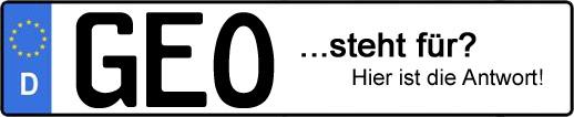 Wofür steht das Kfz-Kennzeichen GEO? | Kfz-Kennzeichen - AUTOPURISTEN.net