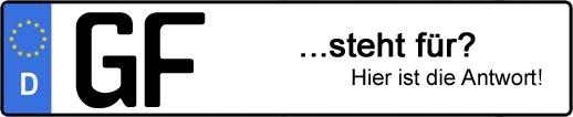 Wofür steht das Kfz-Kennzeichen GF? | Kfz-Kennzeichen - AUTOPURISTEN.net