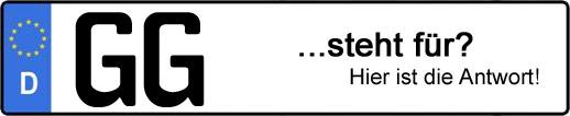 Wofür steht das Kfz-Kennzeichen GG? | Kfz-Kennzeichen - AUTOPURISTEN.net