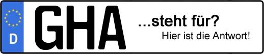 Wofür steht das Kfz-Kennzeichen GHA? | Kfz-Kennzeichen - AUTOPURISTEN.net