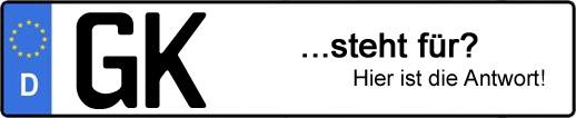 Wofür steht das Kfz-Kennzeichen GK? | Kfz-Kennzeichen - AUTOPURISTEN.net