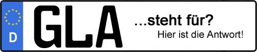 Wofür steht das Kfz-Kennzeichen GLA? | Kfz-Kennzeichen - AUTOPURISTEN.net