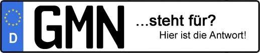 Wofür steht das Kfz-Kennzeichen GMN? | Kfz-Kennzeichen - AUTOPURISTEN.net