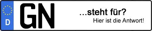 Wofür steht das Kfz-Kennzeichen GN? | Kfz-Kennzeichen - AUTOPURISTEN.net