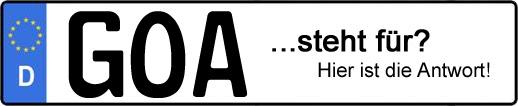 Wofür steht das Kfz-Kennzeichen GOA? | Kfz-Kennzeichen - AUTOPURISTEN.net