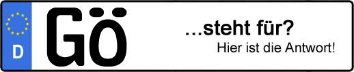 Wofür steht das Kfz-Kennzeichen GÖ? | Kfz-Kennzeichen - AUTOPURISTEN.net