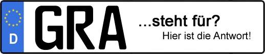 Wofür steht das Kfz-Kennzeichen GRA? | Kfz-Kennzeichen - AUTOPURISTEN.net