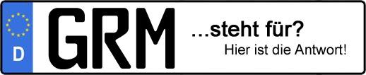 Wofür steht das Kfz-Kennzeichen GRM? | Kfz-Kennzeichen - AUTOPURISTEN.net