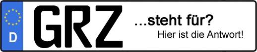 Wofür steht das Kfz-Kennzeichen GRZ? | Kfz-Kennzeichen - AUTOPURISTEN.net