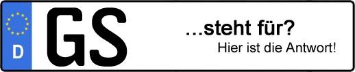 Wofür steht das Kfz-Kennzeichen GS? | Kfz-Kennzeichen - AUTOPURISTEN.net