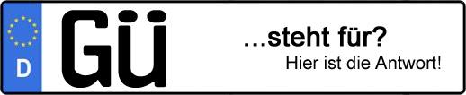 Wofür steht das Kfz-Kennzeichen GÜ? | Kfz-Kennzeichen - AUTOPURISTEN.net