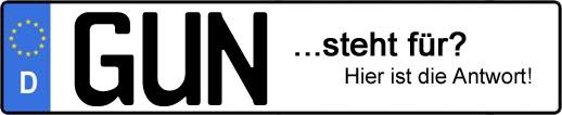 Wofür steht das Kfz-Kennzeichen GUN? | Kfz-Kennzeichen - AUTOPURISTEN.net