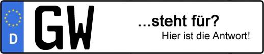 Wofür steht das Kfz-Kennzeichen GW? | Kfz-Kennzeichen - AUTOPURISTEN.net