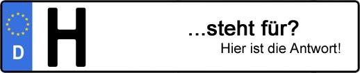 Wofür steht das Kfz-Kennzeichen H? | Kfz-Kennzeichen - AUTOPURISTEN.net