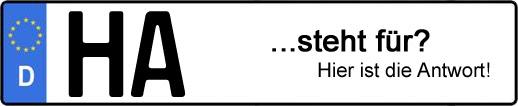Wofür steht das Kfz-Kennzeichen HA? | Kfz-Kennzeichen - AUTOPURISTEN.net