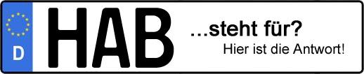 Wofür steht das Kfz-Kennzeichen HAB? | Kfz-Kennzeichen - AUTOPURISTEN.net