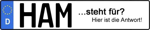 Wofür steht das Kfz-Kennzeichen HAM? | Kfz-Kennzeichen - AUTOPURISTEN.net