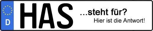 Wofür steht das Kfz-Kennzeichen HAS? | Kfz-Kennzeichen - AUTOPURISTEN.net