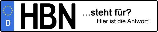 Wofür steht das Kfz-Kennzeichen HBN? | Kfz-Kennzeichen - AUTOPURISTEN.net
