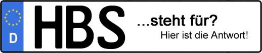 Wofür steht das Kfz-Kennzeichen HBS? | Kfz-Kennzeichen - AUTOPURISTEN.net
