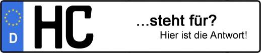 Wofür steht das Kfz-Kennzeichen HC? | Kfz-Kennzeichen - AUTOPURISTEN.net