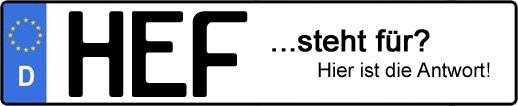 Wofür steht das Kfz-Kennzeichen HEF? | Kfz-Kennzeichen - AUTOPURISTEN.net