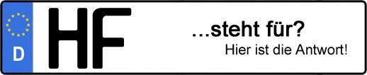 Wofür steht das Kfz-Kennzeichen HF? | Kfz-Kennzeichen - AUTOPURISTEN.net