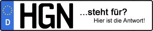 Wofür steht das Kfz-Kennzeichen HGN? | Kfz-Kennzeichen - AUTOPURISTEN.net