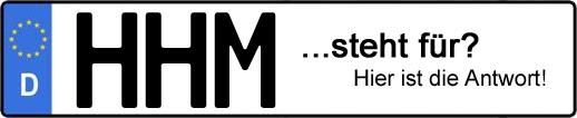 Wofür steht das Kfz-Kennzeichen HHM? | Kfz-Kennzeichen - AUTOPURISTEN.net